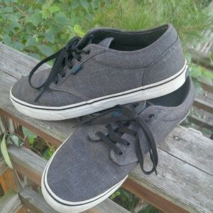 Vans skate shoes, in EUC, sz 11.5 slate gray/blue